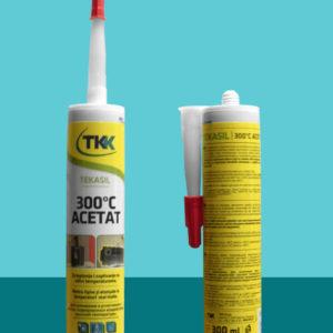 Герметик силиконовый высокотемпературный Tekasil 300 °C Acetat 300 мл TKK