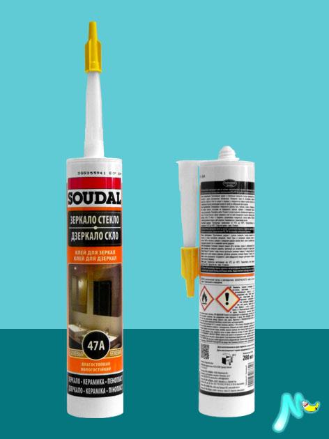 Клей 47A для зеркал каучуковый SOUDAL
