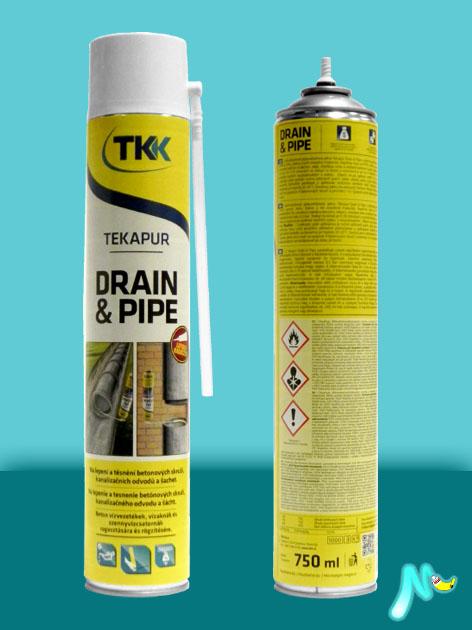 Пена монтажная для колодцев и дренажа Drain&Pipe 750 мл TKK