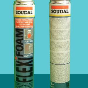 Всесезонная эластичная монтажная пена FLEXI 750 мл SOUDAL