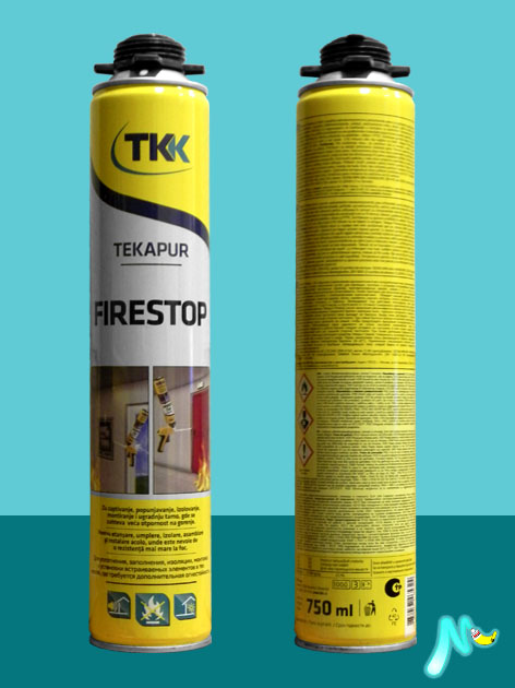 Огнестойкая монтажная пена Tekapur Firestop 750 мл TKK