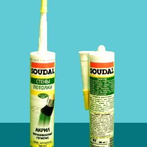 Герметик акриловый Paintable Sealant SOUDAL