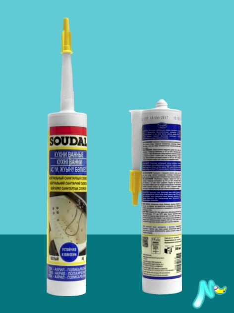 Герметик нейтральный санитарный Neutral Sanitary Silicone SOUDAL