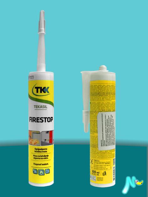 Герметик силиконовый огнестойкий Tekasil Firestop 300 мл TKK
