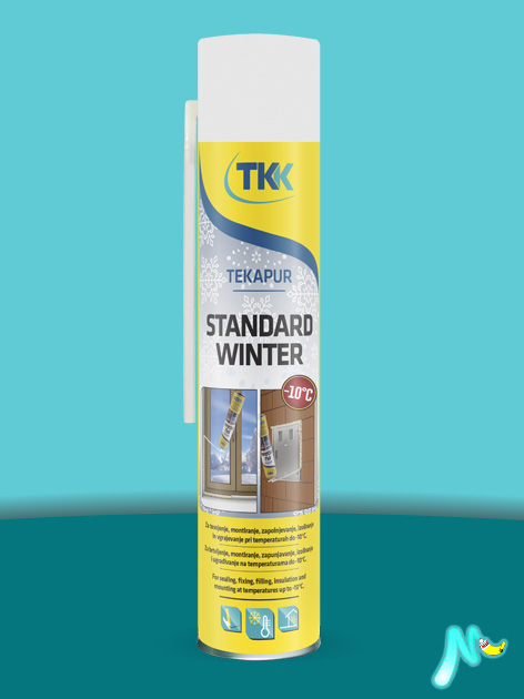 Пена монтажная зимняя Tekapur Standard Winter 750 мл TKK