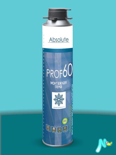 Зимняя монтажная пена Absolute PROF 60