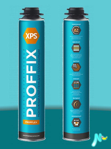 Клей- пена PROFFIX XPS 850 мл PROFFLEX