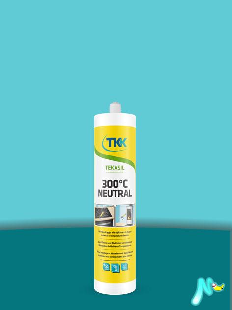 Герметик силиконовый высокотемпературный нейтральный Tekasil 300 °C Neutral 300 мл TKK КРАСНЫЙ
