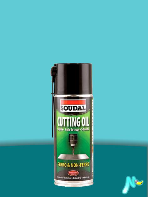 Охлаждающая смазка для обработки металлов Cutting Oil 400 мл SOUDAL ПРОЗРАЧНАЯ