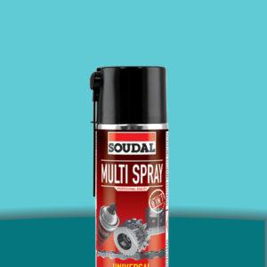 Минеральная смазка Multi Spray 400 мл SOUDAL БЕЛАЯ