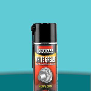 Минеральная смазка с литием White Grease 400 мл SOUDAL БЕЛАЯ