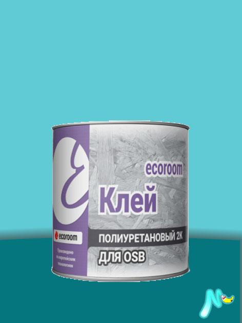 Клей полиуретановый 2К для OSB 10 л ECOROOM